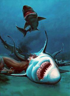 Jason Friday, Sea Monsters, Whales, Titanic, Dolphins, Shark, Boat, Animals, Crimson Tide