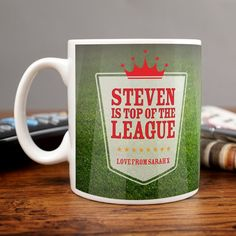 Personalised Mug - Top Of The League | GettingPersonal.co.uk