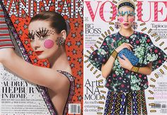 fashion magazine covers so brilliantly electrified by Brazilian interior designer Ana Strumpf? The covers were illustrated as part of an art exhibition in São Paulo earlier this summer.