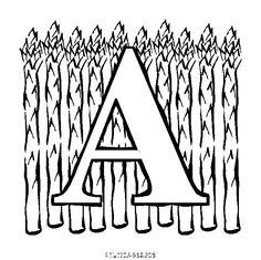 coloriage lettres à colorier alphabet fruit gratuit alphabet