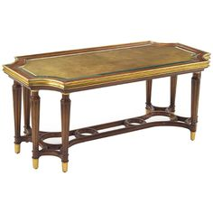 John Richard Madison Cocktail Table in Wood and Gold