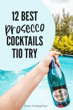 Prosecco is a popular alternative to champagne and is very good in cocktails.  But which cocktails?  Check out these 12 ideas for the best Prosecco cocktail recipes and do more with your bubbly than just sipping it in the sunshine! Cocktails To Try, Prosecco Cocktails, Classic Cocktails, Drink Recipes Nonalcoholic, Drinks Alcohol Recipes, Dessert Drinks, Wine Drinks, Beverages, Types Of White Wine
