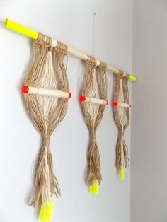 Modern Macrame Knotted Wall Hanging Inner Stillness by Himo Art, One of a kind Handcrafted Simple Macrame Home Decor via Etsy