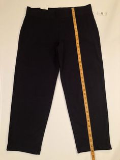 202df4da61b T by Talbot s Straight Ankle Navy Blue Stretch Pants Size Large L NWT   Talbots  Straight