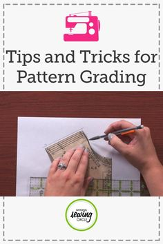 Pattern grading can be an easy way to change the size of a pattern piece. Ashley Hough shows you how to grade a commercial pattern piece in order to increase the size.