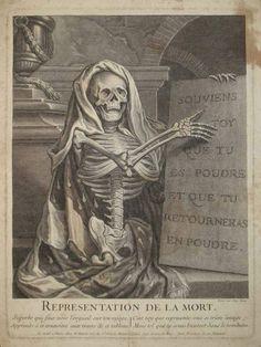 Représentation de la mort, memento mori (France, 1662-1727) (Source - The Hunterian Museum and Art Gallery).