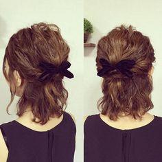 Party Hairstyles, Short Bob Hairstyles, Cute Hairstyles, Medium Hair Styles, Short Hair Styles, Hair Arrange, Asian Hair, Hair Designs, New Hair