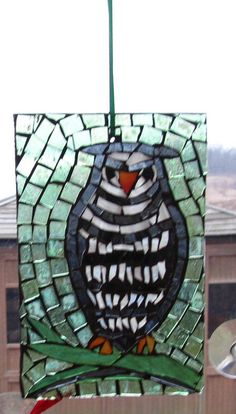 Mosaic Stained Glass OWL SunCatcher or wall by HildeMosaics