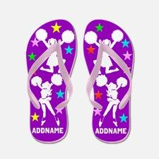 Cheering Team Flip Flops Calling all Cheerleaders! The best selection of personalized Cheerleading Tees and Gifts. Shop and Save. Take 20% Off Your Order Use Code: BEADS20  http://www.cafepress.com/sportsstar/10189555  #Cheerleading #Cheerleader #Cheerleadergift #Lovecheerleading #PersonalizedCheerleader