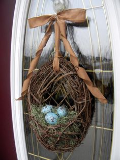 Spring Easter Grapevine Door Wreath