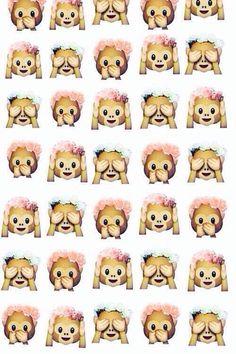background, hipster, monos, emojis, coronas
