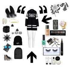 """Senza titolo #57"" by hibaezzarouali ❤ liked on Polyvore featuring Ash, H&M, Hood by Air, Quay, Rains, Saachi, Lulu*s, Charlotte Russe, Bobbi Brown Cosmetics and Borghese"