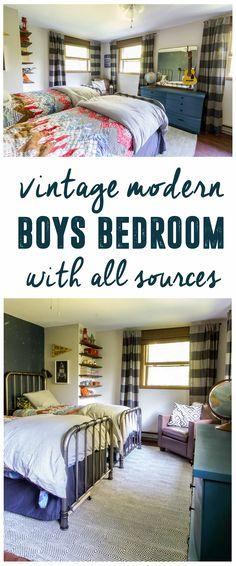 Modern Boys Bedroom via @BrightGreenDoor