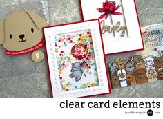 4 Ways: Clear Card Elements - Jennifer McGuire Ink