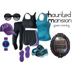 """Haunted Mansion goes running"" by angiodancer on Polyvore"