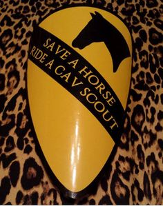 """MEDIUM """"Save A Horse Ride A Cav Scout"""" Decal...I need this for my truck!!!"""