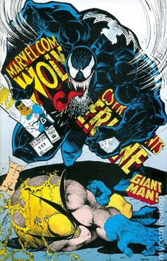 Marvel Comices Presents # 117 Cover by Sam Keith (Wolverine vs. Venom)
