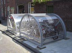 bikestorage on street in delft- Netherlands @ spacingtoronto.ca