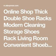 Online Shop Thick Double Shoe Racks Modern Cleaning Storage Shoes Rack Living Room Convenient Shoebox Shoes Organizer Stand Shelf | Aliexpress Mobile