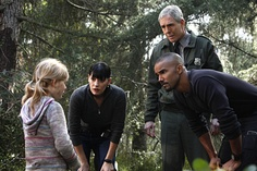 Prentiss, Ranger Walter Turner (played by: Joh  Laughlin, Morgan (who is always fantastic with kids) and Anna (played by: Emily Alyn Lind), from the episode, Into The Woods.