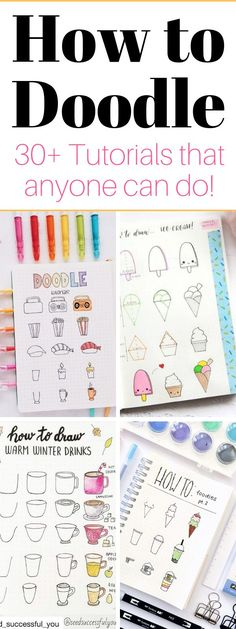 Bullet Journal Doodles – 30 Easy Tutorials What is a doodling? What are the benefits of doodling? Check out the ultimate guide to doodling and try adorable doodle tutorials!