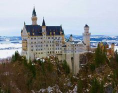 Neuschwanstein Castle Germany (Disney got the  inspiracion from this Castle). Is so beautiful. I Visited when I was living in Germany.
