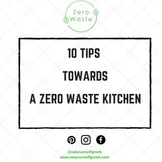 there is the Zero waste movement to give us a hand sort out all that rubbish. Read on to see how your can get towards zero waste kitchen. Green Kitchen, Zero Waste, Ecology, Athens, Greek, Reading, Eat, Reading Books, Greece