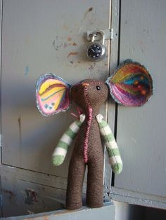 Finney Woolagain Mouse / Recycled Wool Art Doll by fawnpotter, $45.00