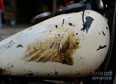 Paul Ward Photograph - Indian Motocycle Gas Tank by Paul Ward