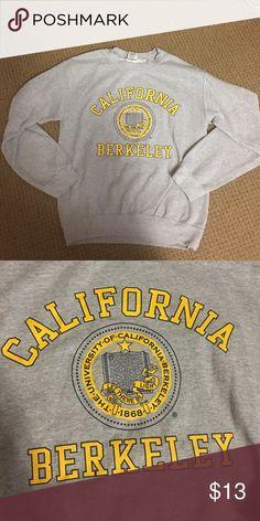 UC Berkeley Sweatshirt Grey UC berkeley sweatshirt, worn a few times.  Very good condition. Gildan Tops Sweatshirts & Hoodies