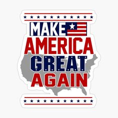 I Love America, New Sticker, Decorate Notebook, Wallpaper Iphone Cute, Glossier Stickers, Red And White, Emo, Donald Trump, How To Make