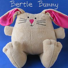What you get Please note: This pattern is a digital PDF pattern. More info here. Meet Bertie! He's a fat, huggable bunny with floppy ears and great big feet. Lo