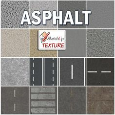 ASPHALT SEAMLESS TEXTURE COLLECTION http://www.sketchuptexture.com/p/asphalt-road-rails.html