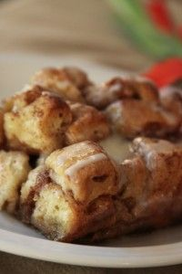 Cinnamon French Toast Bake – using canned cinnamon rolls