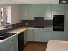 Respray Kitchen | Kitchen Respraying Doors and Cabinets | Kitchen Refurbishment Service | Spray Finishing Specialists | London | Brighton | East Sussex | Kent
