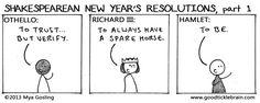 Shakespearean New Year's Resolutions, part 2 — Good Tickle Brain: A Mostly Shakespeare Webcomic
