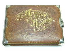 Antique Photo Album Early 1900s circa Metal Latch Leather