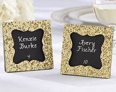 Kate Aspen's Gold Glitter Frame, perfect for your next gold glam or vintage themed wedding! #myweddingfavors #weddingfavors #goldglamwedding