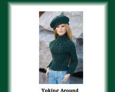 "Yoking Around-TW--PDF Knitting Pattern for Tonner's 16"" dolls like Tyler Wentworth and Ellowyne Wilde"