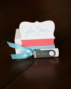 Cute USB  packaging from Julie Greer Photography