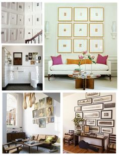 DIY::  #30+ Photo Gallery Walls Ideas...