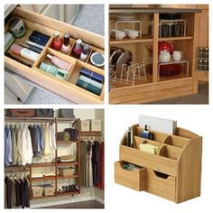 Getting Organized: Organizational Tips,Tricks and Hints! Home Organization Hacks, Closet Organization, Organization Ideas, Things Organized Neatly, Storage Compartments, Cozy Living, Woodworking Ideas, Getting Organized, Cleaning Hacks