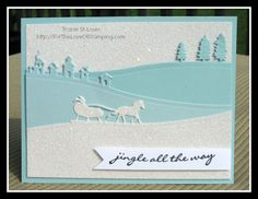 Stampin' Up! Jingle all the Way, Sleigh Ride edgelits, ~For The Love of Stamping~