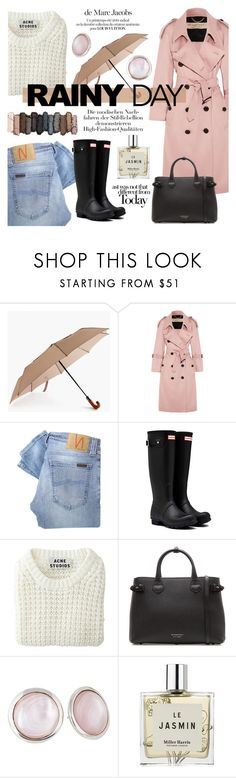 """Splish Splash: Rainy Day Style"" by julijana-k ❤ liked on Polyvore featuring ShedRain, Burberry, Nudie Jeans Co., Hunter, Acne Studios, Urban Decay, Marc Jacobs, Miller Harris and rainyday"