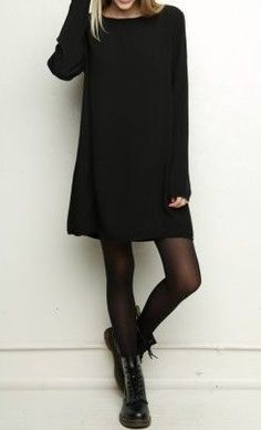wintermode winterkleider strickkleid schwarz minikleid Source by lisafirle winter fashion winter dresses knitted dress black mini dress Source by lisafirle dresses fashion Fashion 2017, Look Fashion, Winter Fashion, Fashion Black, Dress Fashion, Luxury Fashion, Fashion Tights, Fashion Outfits, Fashion Clothes