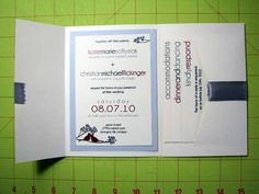 DIY Wedding Invitations - All the steps, completely DIY