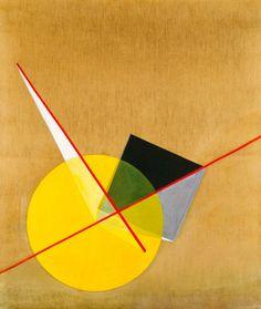 """László Moholy-Nagy - """"Yellow Circle"""" {1921}"""