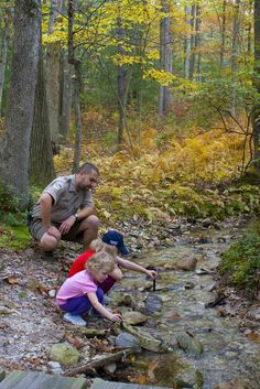 Children investigate a stream at Kings Gap, Pennsylvania State Parks Cumberland Valley, Health Plus, Get Outdoors, Outdoor Workouts, Kids Events, Go Camping, Get Outside, My Happy Place, Hiking Trails