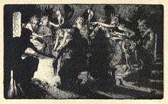 """John D Batten - The Horned Women, illustration from """"Celtic Fairy Tales,"""" 1892"""