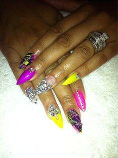 Gotta love the ghetto girl nails!
